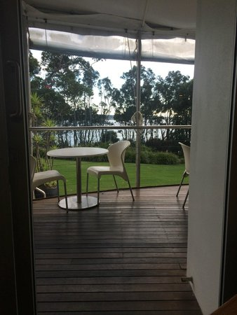 Bannisters by the sea: Breakfast view