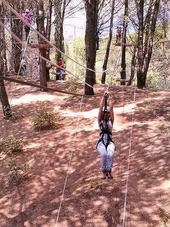 Monti Rossi Adventure Park: Green Zip Line