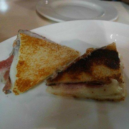 Tapas 24 : Commerc 'Bikini': Iberico Ham, Cheese and Black Truffle Sandwich