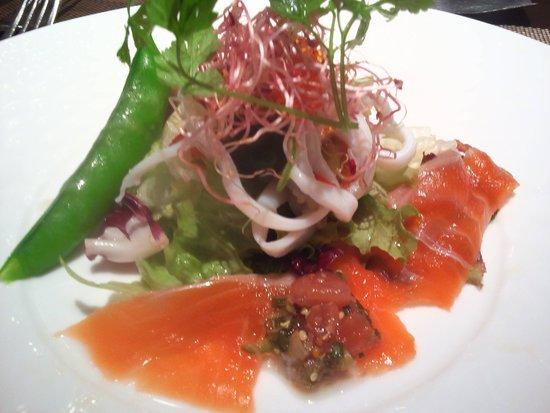 Bonafesuta : 前菜 シーフードサラダ