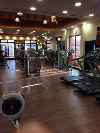 Anantara The Palm Dubai Resort: A view of the gym above the spa