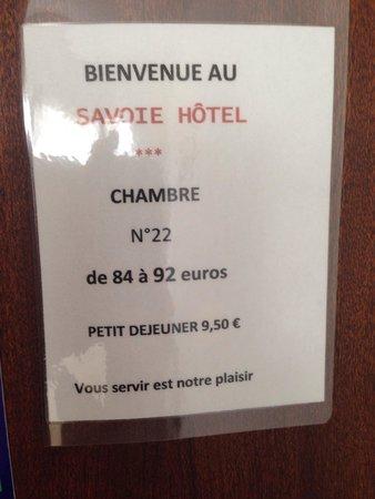 Hotel Savoie: Vous servir est notre plaisir sonne bien mais la réalité est malheureusement toute autre.