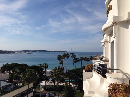 Hôtel Barrière Le Majestic Cannes: Fantastische Aussicht vom Zimmer