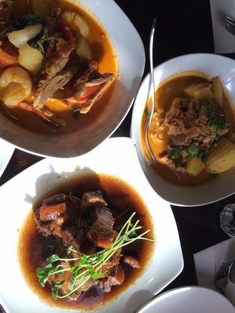 Rice Tapas: a good selection, red duck curry, beef massaman, jims pork belly