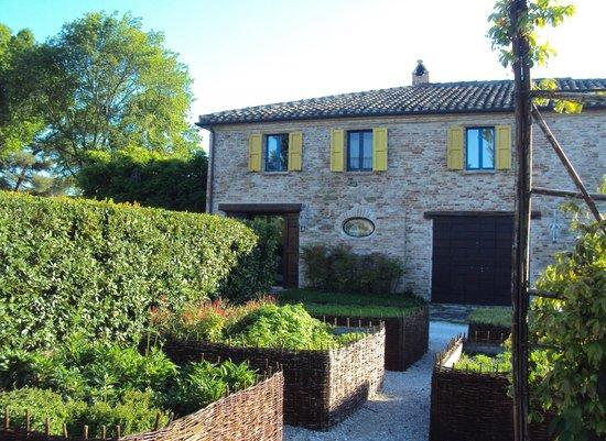 Urbino Resort - Tenuta Santi Giacomo e Filippo: l'orto botanico visto dalla mia camera