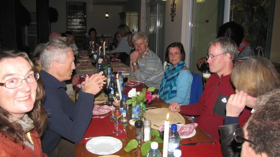 Acorn Guest House: Dinner time for African Bikers Tours