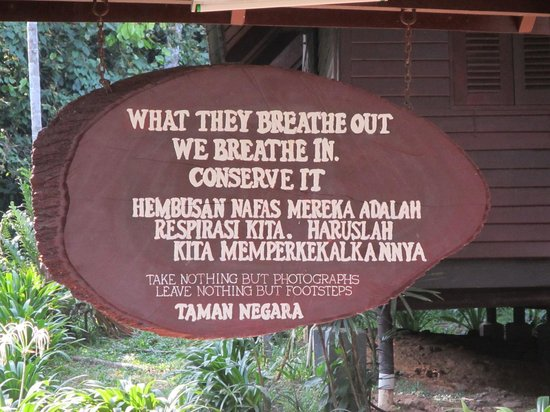 Mutiara Taman Negara : Good motto