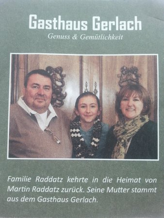 The owners of Gasthaus Gerlach
