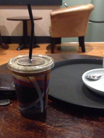 Caffe Nero: Apparently a medium americano at caffee Nero.