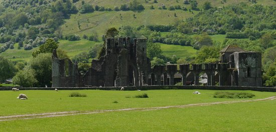 Llanthony Priory: View from the walk just outside of the site