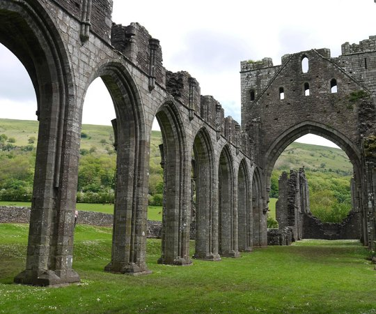Llanthony Priory: A view of the priory nave