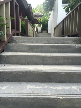 Centara Villas Samui: Some of the stairs (they keep going up past where the photo goes)