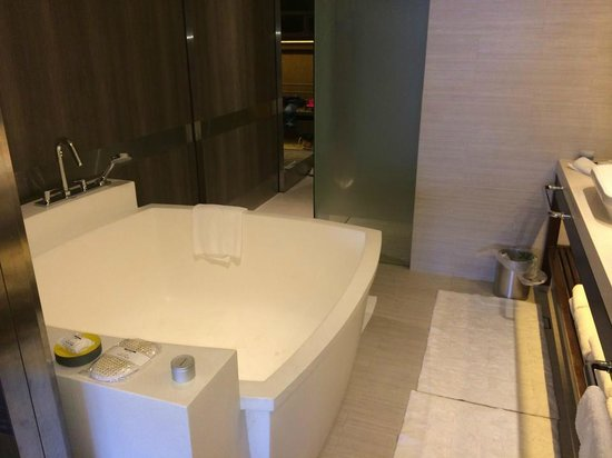 Pan Pacific Singapore: OMG! The bathroom and bathtub is spacious.