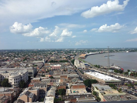New Orleans Marriott : 29th floor river view same room different view