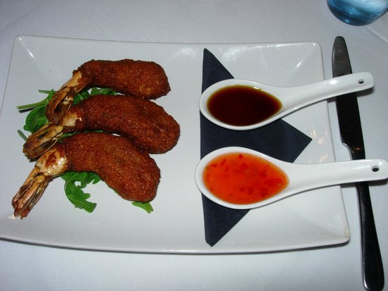 Grand Cafe: Tempura tiger prawns