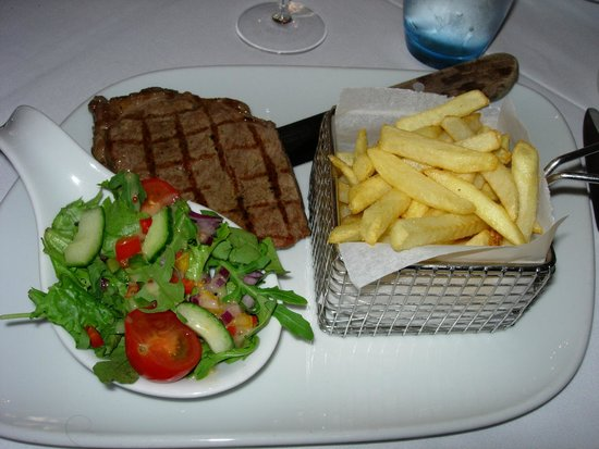 Grand Cafe : Sirloin steak & French fries