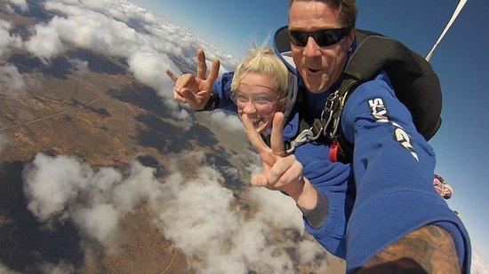 SkyDive Oz: Myself and Dan!
