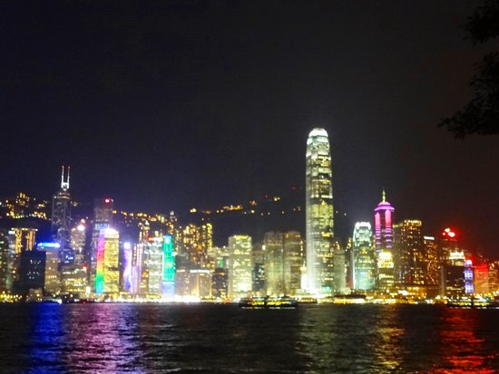 InterContinental Hong Kong: お部屋から見える夜景
