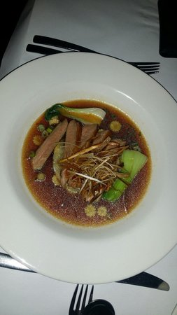 Watergate Restaurant & Lounge Bar : Duck breast consomè... just perfect