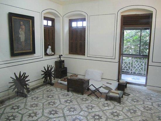 Gandhi-Museum Mani Bhavan: Ghandi's room