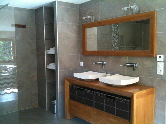 Maison D'Hotes La Pommeraie: Salle de bain chambre shanti