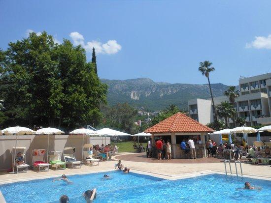 Hotel Tara: Pool area and mountain view!