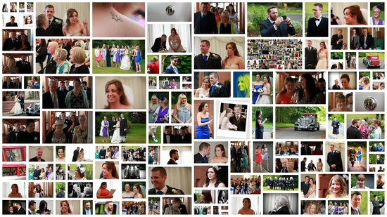 Carnbooth House Hotel: Collage of wedding guests of Mr & Mrs Smith