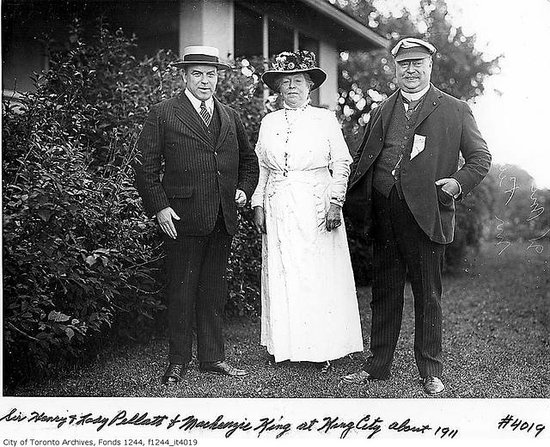 Casa Loma: Sir Pellat with wife and Prime Minister William Lyon Mackenzie.