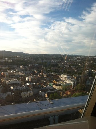 Radisson Blu Plaza Hotel, Oslo: View from SkyBar
