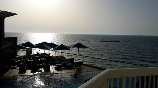 Hilton Alexandria Corniche : Sunset of the Mediterranean Sea