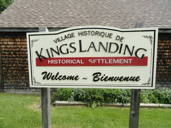 Kings Landing Historical Settlement: Entry sign