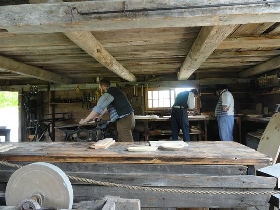 Kings Landing Historical Settlement: Woodworking shop