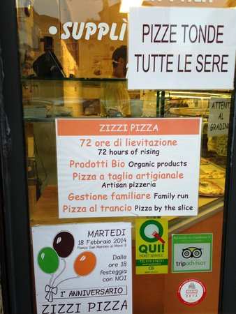 Zizzi Pizza: The sign out front