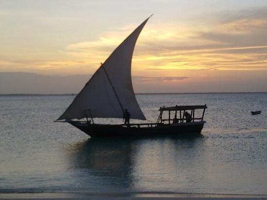 Mbuyuni Beach Village: barca locale