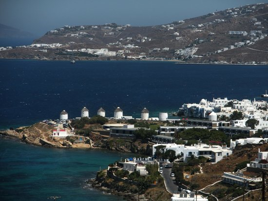 Tharroe of Mykonos Hotel : View from the Pool Area