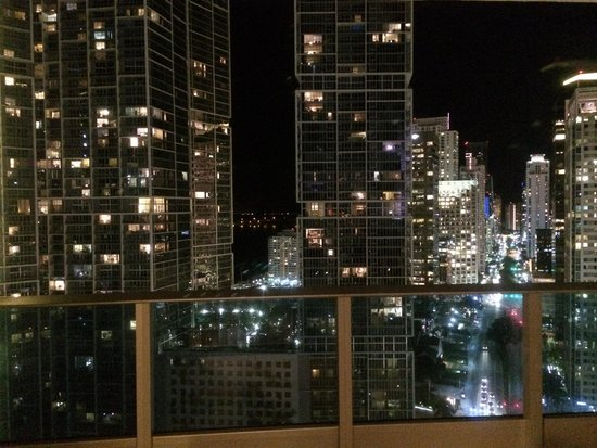 Kimpton EPIC Hotel: night view from balcony