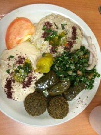 King O Falafel: Vegetarian Platter