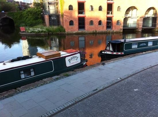 YHA Manchester: some of the barges