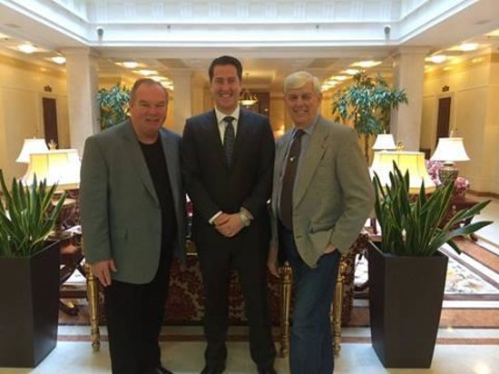 Tom Stuker and Fred Finn the two most travelled in the world at Opera Hotel