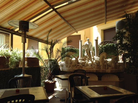 Adler Hotel: Terraza para desayunar