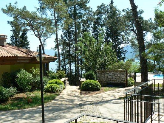 Grand Yazici Club Turban: uitzicht vanuit balkon