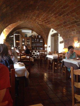 Hotel La Casa Grande de Alpandeire: Comedor tipo cueva