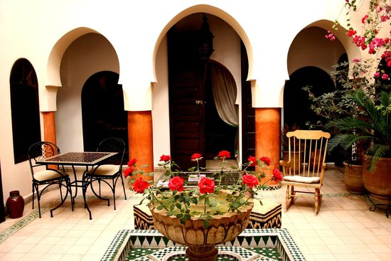 Riad Maison Belbaraka: Innenhof