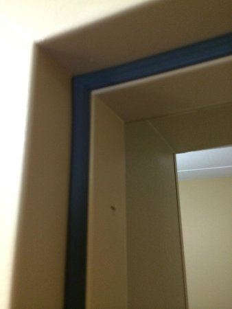Extended Stay America - Boston - Waltham - 32 4th Ave.: CODE REQUIRED SMOKE SEAL RENDERED USELESS BY POORLY FITTED DOOR