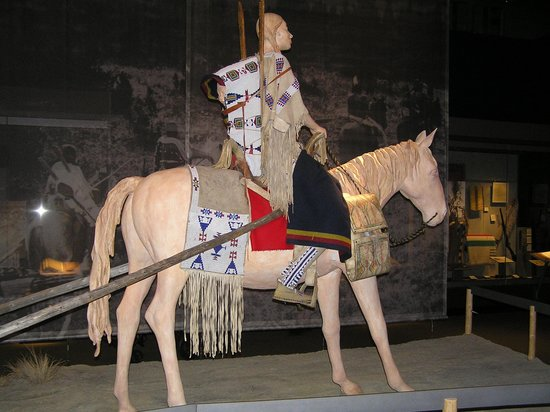 Museum of the Plains Indian: cavaliere con traino