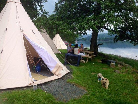 Waterside House Campsite: Tipi fun