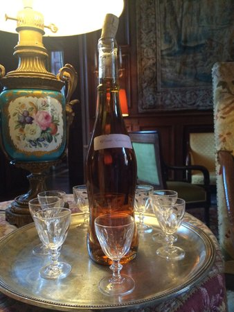 Chateau de Canisy: after dinner Calvados Maison