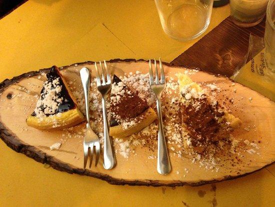 Cacio Vino Trallallà : Grandma's cake, Seminola Dk Chocolate Cake & Blueberry Cheesecake