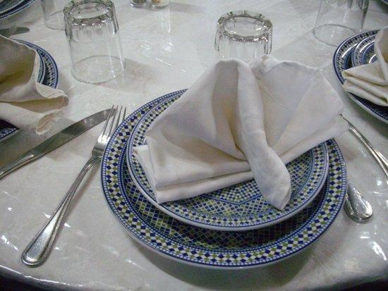 Restaurant La Medina: Place setting