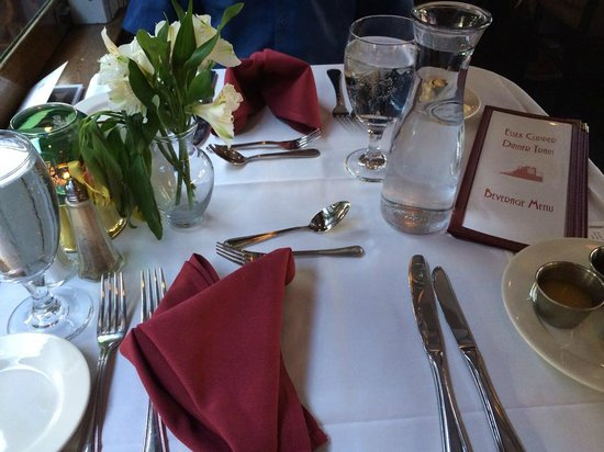 Essex Steam Train & Riverboat : table set up